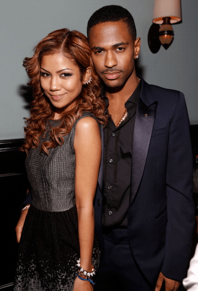 Jhene-Aiko-and-Big-Sean-at-Def-Jams-Grammy-party